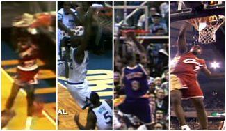 Histórico: los primeros mates NBA de Jordan, Shaq, Kobe, LeBron y otras estrellas (Vídeo)