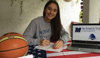 En un año, a la NCAA: Carolina Arfinengo, de Rivas, firma con la Universidad de Monmouth