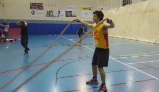 A currar: así se prepara físicamente el junior masculino del C.B. Las Rozas (Vídeo)