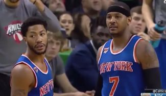 Los Knicks naufragan en Boston: Melo es expulsado y Willy coge 12 rebotes (Vídeos)