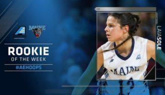 Vaya debut en la NCAA: Laia Solé, rookie de la semana en la América East por segunda vez