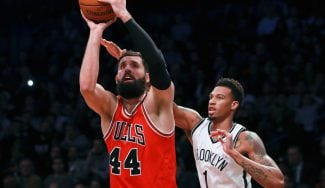 Los Bulls arrasan a los Nets con doble-doble de Mirotic y tiralíneas del Big Three (Vídeo)
