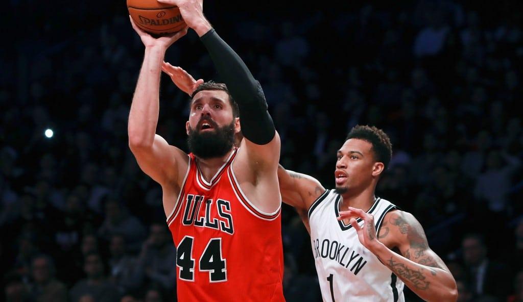 Los Bulls arrasan a los Nets con doble-doble de Mirotic y tiralíneas del Big Three (Vídeo)