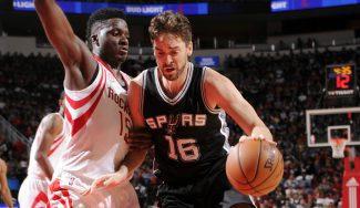 Pau sigue fino en la venganza de los Spurs: Harden repite triple-doble sin premio (Vídeos)