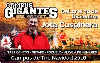 Jota Cuspinera no se lo pierde: estará en el Campus Gigantes de Tiro Navidad 2016