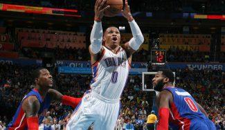 Nuevo triple-doble de Westbrook, a la altura de LeBron: victoria de los Thunder (Vídeo)
