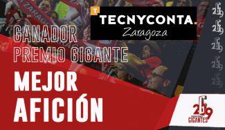 La afición del Zaragoza gana el Gigante a la Mejor Afición. Descubre cuándo lo recibirán