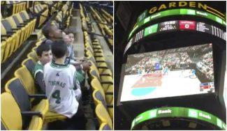 Isaiah Thomas machaca a un niño jugando al NBA 2K17… ¡en el videomarcador! (Vídeo)