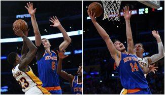 Los Knicks toman el Staples con 7 tapones de Porzingis y 12 rebotes de Willy (Vídeos)