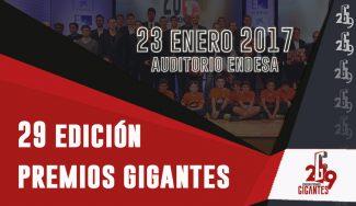 Apúntatelo: la Gala de los XXIX Premios Gigantes ya tiene fecha y sede