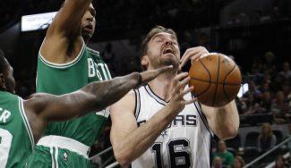 Doble-doble de Pau y triunfo ante Boston con su récord de rebotes con Spurs (Vídeo)