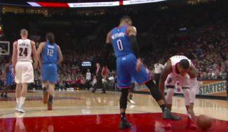 Los Blazers ganan a los Thunder: pique entre Westbrook y Lillard y troleo en Twitter (Vídeo)