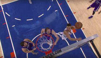 Los Knicks ganan a los Kings: doble-doble de Porzingis y 'baile' de Willy a Koufos (Vídeos)