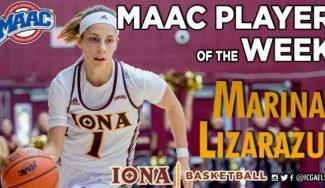 Otra vez a nivel de MVP: Marina Lizarazu, nombrada mejor jugadora de la MAAC. Así juega (Vídeo)