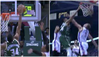 Antetokounmpo se come a los Thunder: tapón a Westbrook y póster a Sabonis (Vídeos)