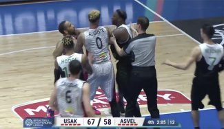 Bronca en la Champions: empujones que acaban con un ex ACB descalificado (Vídeo)