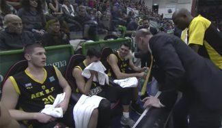 Lo vuelve a hacer: torta de Jure Zdovc al ex ACB Mavroeidis en el banquillo (Vídeo)