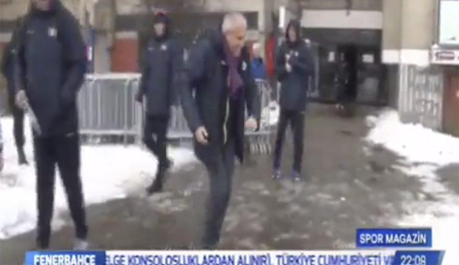 Temerario: Udoh lanza bolas de nieve a sus compañeros… ¡y le da a Obradovic! (Vídeo)