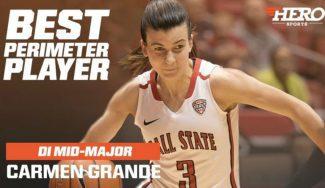Sigue creciendo: Carmen Grande, nombrada mejor jugadora de perímetro entre las Mid-Majors