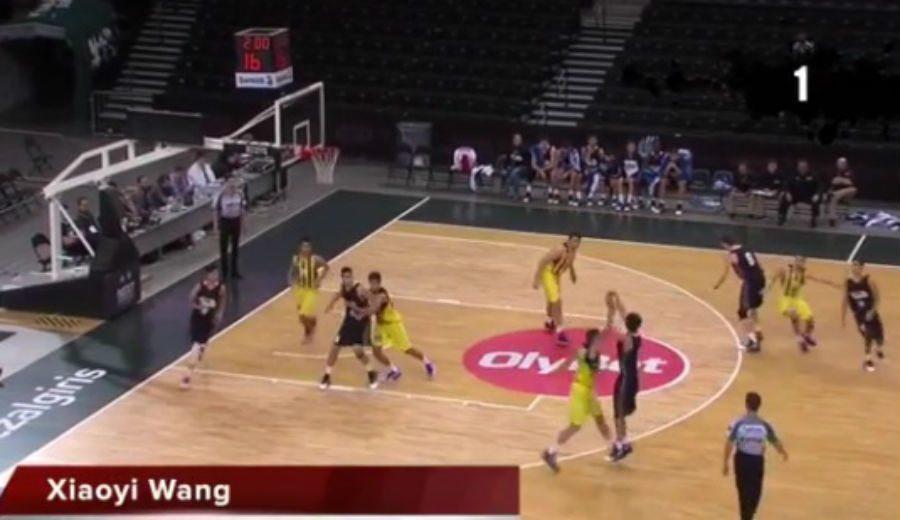 ¡Imperdible! La exhibición de Wang, con sus siete triples con el CBA Academy en Kaunas (Vídeo)