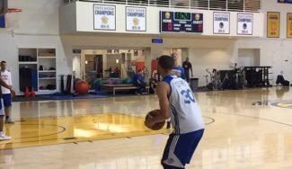 Curry se calienta para recibir a los Cavs: brutal racha de triples en un entreno (Vídeo)