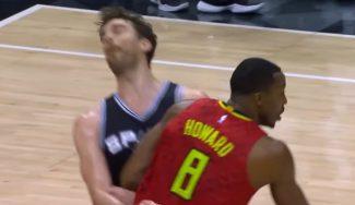 Pau roza el doble-doble en la derrota de los Spurs con 'hombrazo' de Howard (Vídeo)