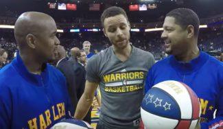 ¿Qué pasa cuando Curry y los Harlem Globetrotters se juntan? Mira, mira (Vídeo)