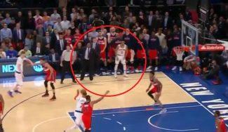 Los Knicks caen ante los Wizards: polémica, récord de Melo y matazo de Porzingis (Vídeo)