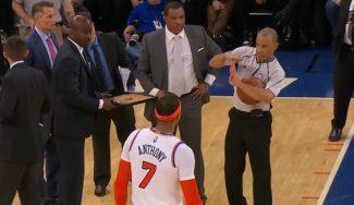 Anthony Davis destroza a unos Knicks en caída libre: Melo, expulsado de nuevo (Vídeo)