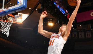 Kuzminskas levanta al Madison en la derrota de los Knicks: canasta de mago (Vídeo)