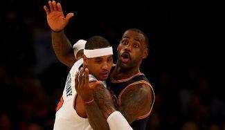 """""""Basket ficción"""". LeBron sale al paso de los rumores que colocan a Melo en Cleveland"""