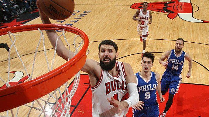 Los Bulls respiran a costa de los Sixers: Mirotic aporta 13 puntos a la causa (Vídeo)