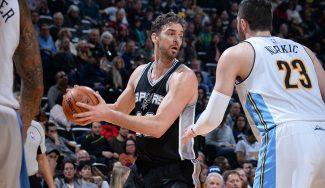 Pau, 'atracado' en la paliza de los Spurs: Kawhi le quita una pelota para anotar (Vídeo)