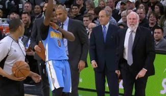 Los Spurs vencen sin Popovich: expulsado por protestar y 'trolleado' por Mudiay (Vídeo)