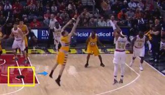 Juancho pierde una zapatilla, puntea un tiro, se la pone, corre al ataque… ¡y anota! (Vídeo)