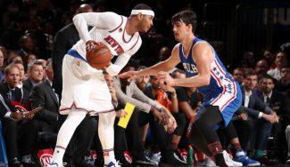 Canasta ganadora de Carmelo para salvar a los Knicks: Willy roza el doble-doble (Vídeo)
