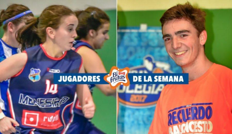 Estrellas de la Copa Colegial: Amparo Sancho y Javier Gimeno, MVP de la primera semana en Madrid