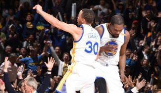 Otro show de los Warriors: 50 puntos en un cuarto con recital de Curry y Durant (Vídeo)