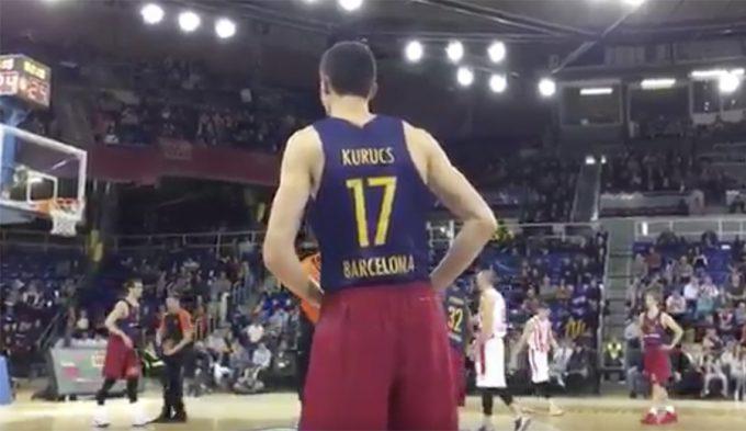 De viajar a Burgos a debutar con el Barça en Euroliga: primera canasta de Kurucs (Vídeo)