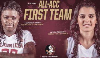 Leticia Romero lo vuelve a hacer: elegida en el primer equipo de la All-ACC