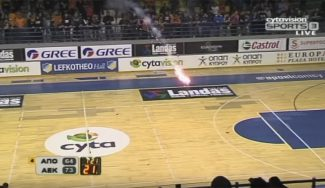 Batalla campal en los playoffs de Chipre: vuelan piedras, bengalas y sillas (Vídeo)