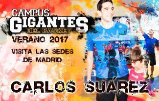 El campeón de la Eurocup con el Unicaja Carlos Suárez estará en el Campus Gigantes de Madrid