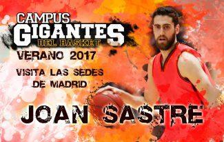 El finalista de Copa y Eurocup con el Valencia Joan Sastre visitará las sedes de Madrid del Campus Gigantes