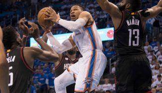 Harden falla el tiro para ganar y 'alegra' otro triple-doble con récord de Westbrook (Vídeo)