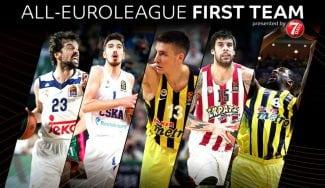 Sergio Llull y dos ex ACB, en el Mejor Quinteto de la Euroliga; Ayón, en el segundo (Vídeo)