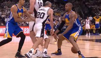 Genialidad de Ginobili en la derrota de los Spurs: caño para enamorar a Curry (Vídeo)
