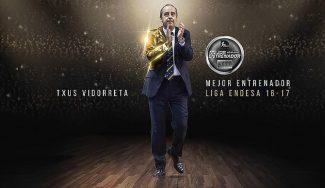 """Vidorreta, técnico del año ACB: """"Lo comparto con equipo técnico, club, afición y jugadores"""""""
