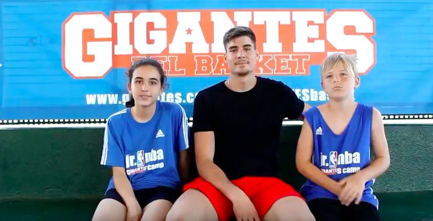 ¡Qué divertido! Estreno del Jr. NBA Gigantes Camp: dos niños y Juancho, al habla (Vídeo)