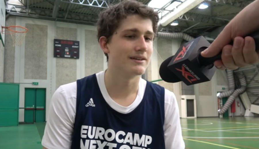 «Mi sueño es jugar en el ACB del Estu». Héctor Alderete, en el Eurocamp de Treviso (Vídeo)
