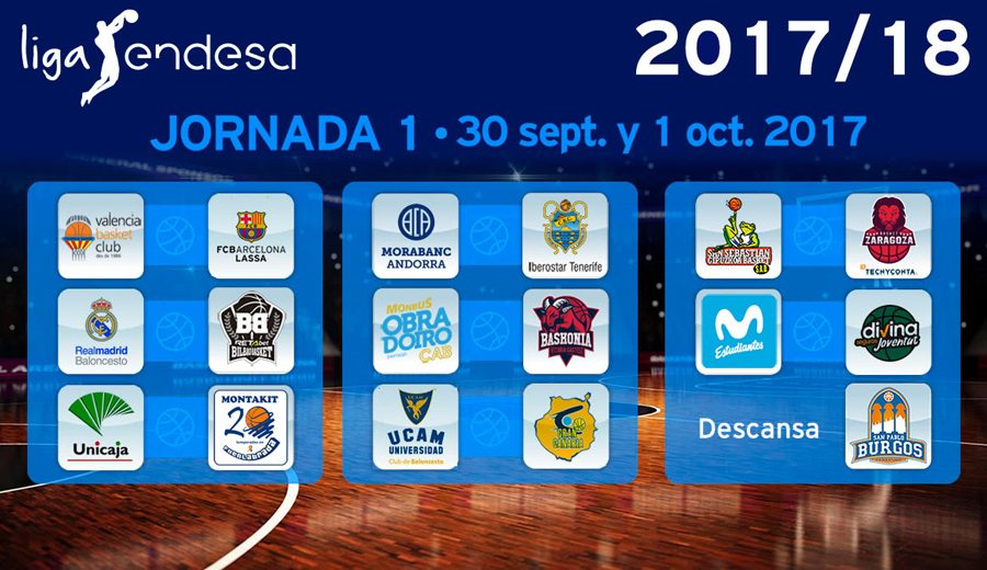 Definido el calendario de la Liga Endesa 2017-18: consulta los partidos al completo aquí